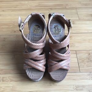 tory burch wedges Sandals Size 5 M